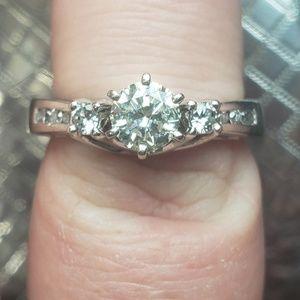 1.13ct diamond ring 14kt white gold